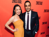 Recent Merrily We Roll Along star Manu Narayan with wife, actress Laura Kai Chen.