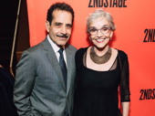 Tony winner Tony Shalhoub with wife, actress Brooke Adams.