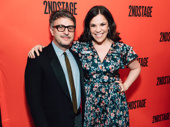Tony winner Lindsay Mendez, who appeared in Dogfight and Everyday Rapture at Second Stage poses with her Significant Other director Trip Cullman.