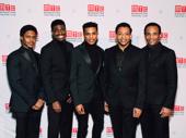 Ain't Too Proud stars Ephraim Sykes, Jawan M. Jackson, Jeremy Pope, Derrick Baskin and James Harkness arrive.