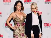 Beetlejuice stars Leslie Kritzer and Sophia Anne Caruso strike a pose.