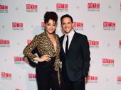 Tony-nominated Tootsie stars Lilli Cooper and Santino Fontana smile for the camera.