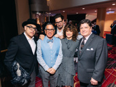 The Tootsie gang is all here: songwriter David Yazbek, scribe Robert Horn and stars Reg Rogers, Sarah Stiles and Michael McGrath.