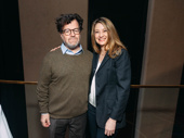 The Waverly Gallery playwright Kenneth Lonergan takes a photo with What the Constitution Means to Me scribe and star Heidi Schreck.