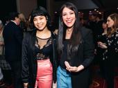 Hadestown's Tony-nominated star Eva Noblezada and Tony-nominated director Rachel Chavkin are all smiles.