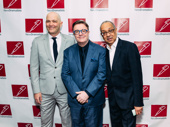 New Dramatists honoree and Gary star Nathan Lane poses with Gary's playwright Taylor Mac and director George C. Wolfe.