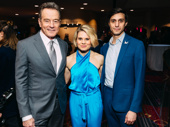 Network Tony nominee Bryan Cranston snaps a pic with To Kill a Mockingbird Tony nominees Celia Keenan-Bolger and Gideon Glick.