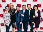 The Prom scribe Chad Beguelin, standout Angie Schworer, Tony nominee Brooks Ashmanskas, composer Matthew Sklar and Tony nominee Beth Leavel pose with Nathan Lane.