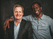 Nominee Jeff Daniels buddies up with his To Kill a Mockingbird co-star Gbenga Akinnagbe.