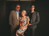 To Kill a Mockingbird's scribe Aaron Sorkin with Tony nominees Celia Keenan-Bolger and Gideon Glick.