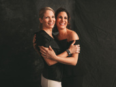 Kiss Me, Kate nominee Kelli O'Hara and The Cher Show nominee Stephanie J. Block hug it out.