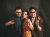 Be More Chill composer Joe Iconis with cast members Lauren Marcus and George Salazar.