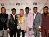 Ain't Too Proud's James Harkness, Ephraim Sykes, choreographer Sergio Trujillo, Jawan M. Jackson, Jeremy Pope and Derrick Baskin get together. Sykes received a Chita Rivera Award for Outstanding Male Dancer in a Broadway Show.