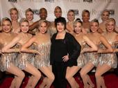Broadway legend Chita Rivera poses with the Radio City Rockettes.