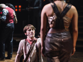 Reeve Carney and Eva Noblezada take the stage.