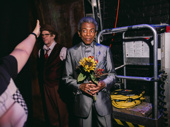 André De Shields gets ready for his entrance.