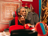 Hadestown Tony nominee André De Shields prepares for his performance as Hermes.
