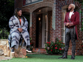 Danielle Brooks and Grantham Coleman in Much Ado About Nothing.