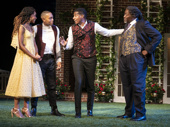 Margaret Odette, Jeremie Harris, Billy Eugene Jones, and Chuck Cooper in Much Ado About Nothing.