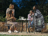 Tiffany Denise Hobbs, Margaret Odette, Olivia Washington, and Danielle Brooks in Much Ado About Nothing.