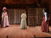 Ellen Harvey, Kate Hamill and Kristolyn Lloyd in Little Women.