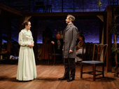 Kate Hamill and Michael Crane in Little Women.