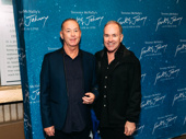 Trevor Hardwick and Stephen Flaherty attend opening night of Frankie and Johnny in the Clair de Lune.