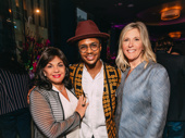 Broadway League President Charlotte St. Martin with Ain't Too Proud's Ephraim Sykes and the John Gore Organization's Chief Operating Officer Lauren Reid.