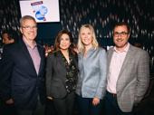The John Gore Organization team members Jerome Kane, Lauren Reid and Matt Kupchin with Pretty Woman producer Paula Wagner.