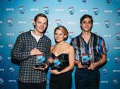 To Kill a Mockingbird co-stars Will Pullen, Celia Keenan-Bolger and Gideon Glick celebrate the show's win for Favorite New Play.