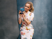 Kiss Me, Kate star Stephanie Styles displays her Broadway.com Audience Choice Award.