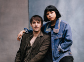 Hadestown stars Reeve Carney and Eva Noblezada snap a sweet pic.