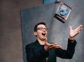 Be More Chill star Will Roland gets silly with his new trophy.