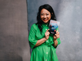 Be More Chill standout Stephanie Hsu poses with her Broadway.com Audience Choice Award for Favorite Funny Performance.