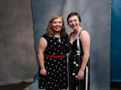 Broadway's Biggest Fan winner Makenna and her sister Gabi enjoy the 2019 Broadway.com Audience Choice Awards.