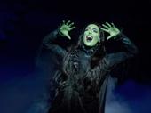 Hannah Corneau as Elphaba in Wicked.