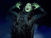 Hannah Corneau as Elphaba in Wicked.