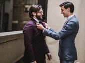 To Kill a Mockingbird Tony nominee Gideon Glick straightens his fiancé Perry Dubin's tie.