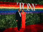 Harold Wheeler arrives with Hattie Winston. Wheeler, who is Tony-nominated for Ain't Too Proud's orchestrations, is also receiving an award for Lifetime Achievement.