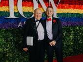 Theater couple Terrence McNally and Thomas Kirdahy beam on the red carpet. McNally is a 2019 Lifetime Achievement Tony Honoree.