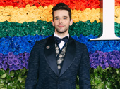 Michael Urie steps out.