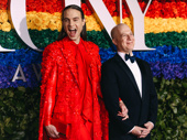 Theater couple Jordan Roth and Richie Jackson are red-carpet ready.