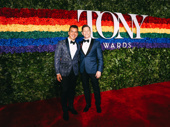 Ain't Too Proud's Tony-nominated choreographer Sergio Trujillo is all smiles with his husband Jack Noseworthy.