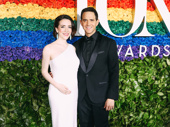 Tootsie Tony nominee Santino Fontana and his wife Jessica Hershberg snap a sweet pic.