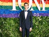 To Kill a Mockingbird Tony nominee Gideon Glick beams on the red carpet.