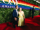 Oklahoma! Tony nominee Ali Stroker and her boyfriend David Perlow arrive at the 2019 Tony Awards.