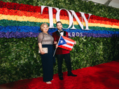 The Boys in the Band Tony nominee Robin De Jesús is all smiles with his mother.