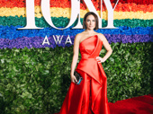 My Fair Lady star Laura Benanti serves looks on the red carpet.
