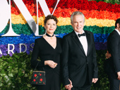 Power couple! All My Sons Tony nominee Annette Bening and her husband Warren Beatty beam on the red carpet.