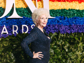 The Ferryman Tony nominee Fionnula Flanagan beams on the red carpet.
